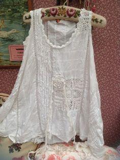Ewa I Walla Fabulous White Top Pure Ewa I Walla Style Size M #ewaIwalla