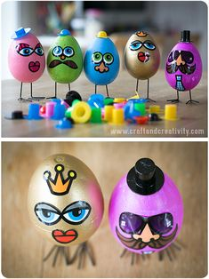 Funny egg characters - by Craft & Creativity