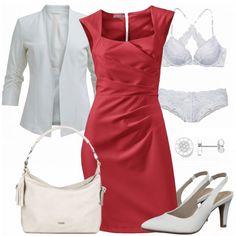 Business Outfits: HereIam bei FrauenOutfits.de #mode #damenmode #frauenmode #outfit #damenoutfit #frauenoutfit #outfitinspiration #trend #modetrend #trend2018 #fashion #business #büro #etuikleid #rot #weiß #slingbacks