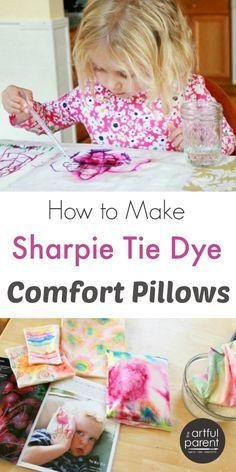 Sharpie Tie Dye Comfort Pillows