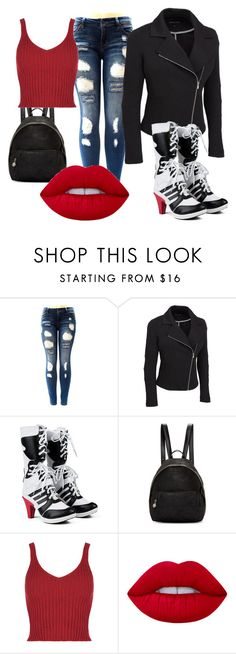 """""""Harley Quinn"""" by dsingleterry ❤ liked on Polyvore featuring STELLA McCARTNEY, Lime Crime and plus size clothing"""