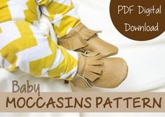 Leather Moccasin Sewing Pattern  Baby Shoe by CraftsByKrysta