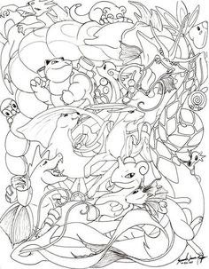 Okay, I am the one who is insane, but allow me first to list off all the pokemon in this drawing (in no particul. Water Pokemon -line- Pokemon Craft, Pokemon Eevee, Pokemon Party, Eevee Evolutions, Pikachu, Pokemon Coloring Sheets, Coloring Book Pages, Coloring Pages For Kids, Kids Colouring