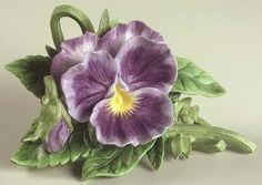 porcelain purple pansy