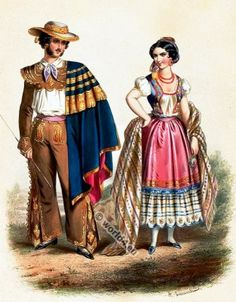 39 Costume De La Haute Californie 39 And 39 Dame De Monterey 39 Abel Du Petit Thouars C 1836 Early