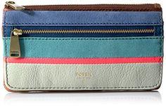 Fossil+Preston+Rfid+Flap+Wallet-bright+Stripe+Wallet