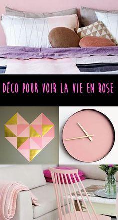 Trouvez l'inspiration rose grâce à nos idées déco glanées sur le Net. Un élément, un meuble, une touche de rose... et la vie est belle !