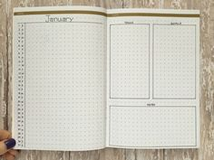 Bullet Journal monthly log style called Basic Betty on pageflutter.com
