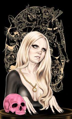 Mimi Scholz - Conjuring trouble #illustration #art #dark