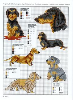 Needle-Works Butterfly: Dogs And Puppies Cross Stitch Patterns