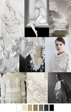 F/W 2017-2018 pattern & colors trends mood board, color palette