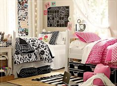 Black and Pink. Check out the cute board and the practical storage options. Find it @ Target