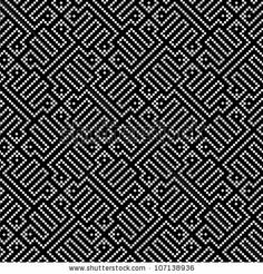 Ethnic pattern in black and white by Silvia Popa, via Shutterstock