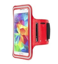 """Samsung Galaxy """"S7 ACTIVE"""" Red Neoprene Adjustable Sports Arm Band"""