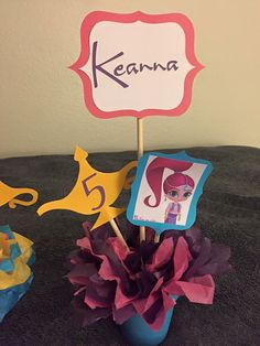 Shimmer and shine centerpieces by EmmyzCustomDecor on Etsy
