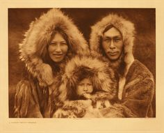 An Innuit Family Group - Noatak by Edward Sheriff Curtis