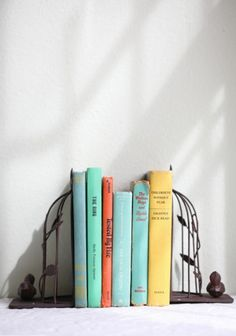 picturesque birdcage bookends from Ruche Vintage Home Offices, Modern Vintage Homes, My New Room, My Room, Best Classic Books, Vintage Room, World Of Books, Bird Cages, House Goals