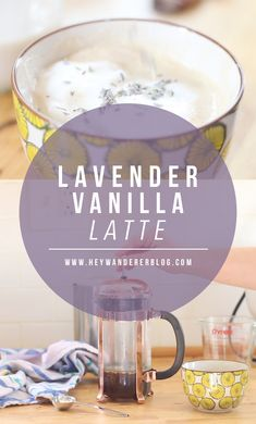 A Springtime Coffee Drink- Lavender Vanilla Latte - Cocktails + Drinks - Kaffee Coffee Menu, Coffee Type, Coffee Latte, Coffee Shops, Coffee Coffee, Starbucks Coffee, Coffee Humor, Coffee Lovers, Coffee Gift Sets