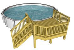 Having a pool sounds awesome especially if you are working with the best backyard pool landscaping ideas there is. How you design a proper backyard with a pool matters. Free Deck Plans, Pool Deck Plans, Deck Building Plans, Above Ground Pool Landscaping, Small Backyard Patio, Backyard Patio Designs, Pool Porch, Small Above Ground Pool, In Ground Pools