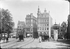 Amsterdam Rembrandtplein met in het midden de ingang van de Bakkersstraat, 1895.