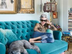 "There's lit-from-within in the ""glow"" sense, and there's lit-from-within from the standpoint of visibly, joyfully vibrating with energy. At 68 years old, Linda Rodin is both."