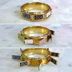 Ring created ok. 1830 year of love, a hidden message that can be read after opening boxes in her modules