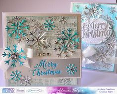 ADRIANA BOLZON  **  AB  INSPIRATIONS: Christmas Snowflake Cards - Let Every Day Be Chris...