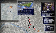 A more detailed timeline of the coordinated attacks in Paris emerged Saturday as authorities began totting up the carnage of the previous night. The attacks began at 9:20pm and lasted past midnight.  11/11/13/15