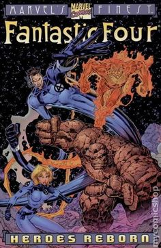 art process for a Promotional PinUp of the Fantastic Four for the Heroes Reborn event by Jim Lee and Scott Williams. this PinUp has been used a number of times, including as the cover and interview art for Wizard: the Guide to Comics #55, one of the Trade Paper Back reprints of the series, and a Lithograph released through Dynamic Forces too.