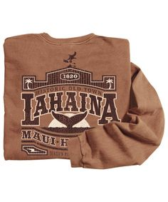 b4c9443cf63 Old Town Lahaina - Rum-Dyed Classic Long Sleeve Crew