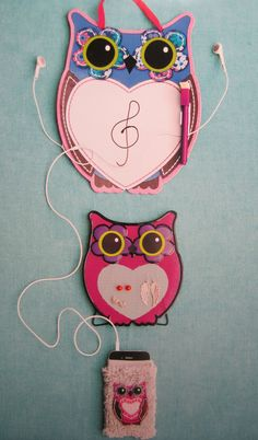 Enchanted Forest Designs... for claires...  dry erase board, earring holder & cell phone sock