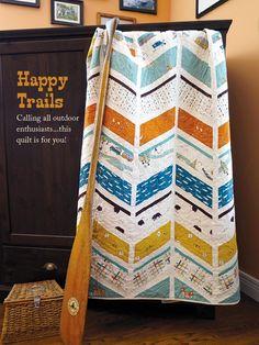 birchfabrics: Happy Trails Quilt Pattern in Sew It Today Magazine