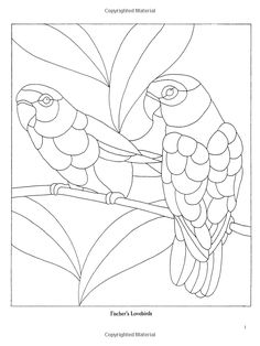 Decorative Birds Stained Glass Pattern Book Dover Pictorial Archives Linda Daniels 9780486272672