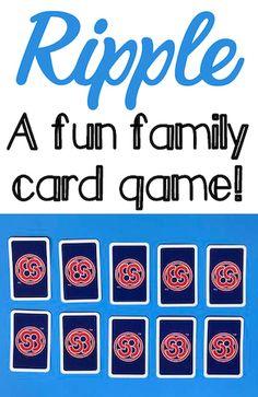Ripple A Fun Family Card Game – Grandma Ideas – frisuren jungs Family Card Games, Fun Card Games, Card Games For Kids, Games For Boys, Playing Card Games, Good Family Board Games, Best Card Games, Best Family Games, Family Activities