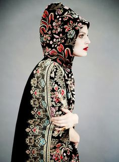 embroidered robe