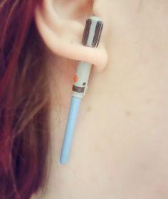 Eye-popping #StarWarsJewelry You Can Buy on Etsy - Lightsaber fake ear gauge