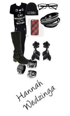 """Hannah Wedzinga 1"" by neroharley on Polyvore featuring Caterpillar, J.Crew, Valentino, women's clothing, women's fashion, women, female, woman, misses and juniors"