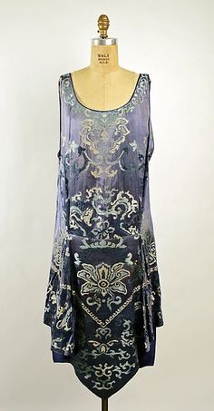 Evening dress Design House: Callot Soeurs (French, active 1895–1937) Date: 1926 Culture: French Medium: silk