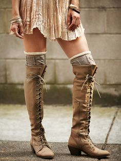 Jeffrey Campbell Joe Lace Up Boot at Free People Clothing Boutique  I have to get these !!! In dark brown !!!! Year 3 still obsessed!!!!!!!!!