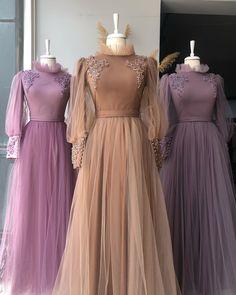 Hijab Evening Dress, Hijab Dress Party, Modern Hijab Fashion, Modesty Fashion, Girls Fashion Clothes, Fashion Dresses, Engagement Party Dresses, Best Gowns, Muslim Wedding Dresses