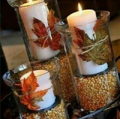 From pumpkins to candles, to vegetables and succulents; Warm up your dinner table this thanksgiving season with these 13 creative, unique and easy to make centerpieces. For a traditional thanksgiving theme gather up classic […] Holiday Fun, Holiday Crafts, Holiday Ideas, Diy Christmas, Holiday Quote, Beach Christmas, Fall Party Ideas, Merry Christmas, Christmas Tables