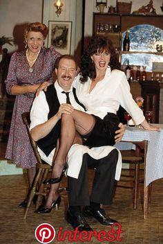 Gorden Kaye, Vicki Michelle, and Carmen Silvera in 'Allo 'Allo! British Tv Comedies, British Comedy, Stockings And Suspenders, Nylon Stockings, Vicki Michelle, Beautiful Legs, Beautiful Women, Celebrities In Stockings, Vintage Stockings