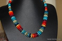 Another order for my gorgeous ceramic necklace (Other colours are available!) Greek Ceramic Multi coloured Rainbow Necklace