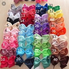 Dozen of hair bows