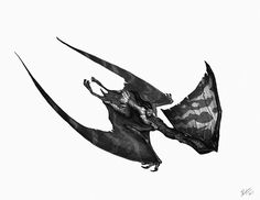 Tapejara Dive by Shaun Keenan Dinosaur Drawing, Dinosaur Art, Creature Feature, Creature Design, Prehistoric Creatures, Mystique, Dragon Art, Fantastic Beasts, Fantasy Creatures
