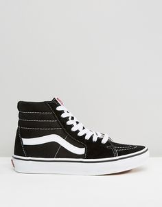 7dccc42072dfdd Vans Classic Sk8 Hi sneakers in black and white