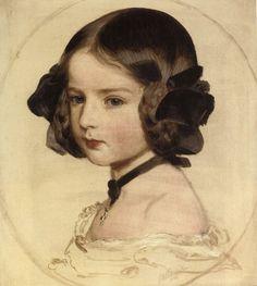 ART BLOG - portrait of Princess Clothilda von Saxen Coburg 1855 by Franz Xaver Winterhalter