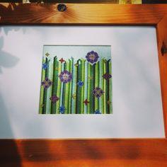 Cross Stitch, Frame, Flowers, Home Decor, Picture Frame, Punto De Cruz, Decoration Home, Room Decor, Seed Stitch