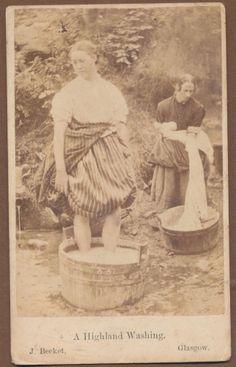 Laundry, Highland, work, women