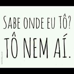 Tô nem aí!! #viverbem #semstress #santohobby #frases #pensamentos